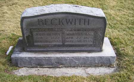 BECKWITH, MARTHA ANN - Highland County, Ohio | MARTHA ANN BECKWITH - Ohio Gravestone Photos