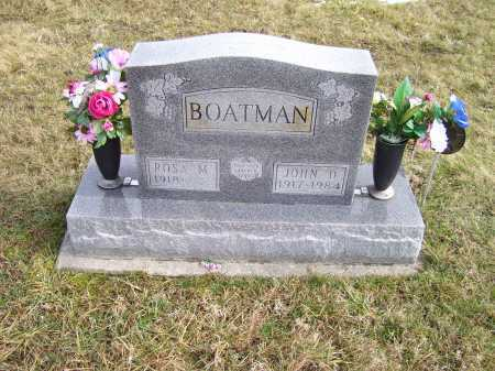 BOATMAN, JOHN D. - Highland County, Ohio | JOHN D. BOATMAN - Ohio Gravestone Photos