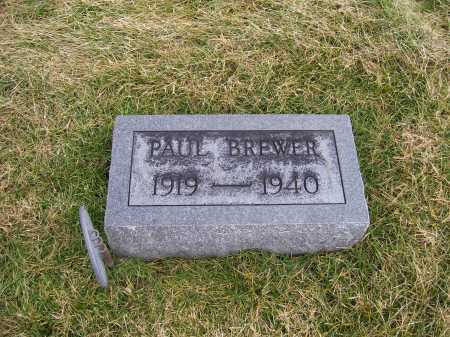 BREWER, PAUL - Highland County, Ohio | PAUL BREWER - Ohio Gravestone Photos