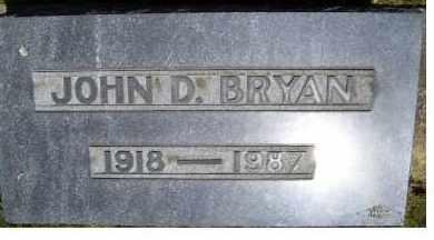 BRYAN, JOHN D. - Highland County, Ohio | JOHN D. BRYAN - Ohio Gravestone Photos