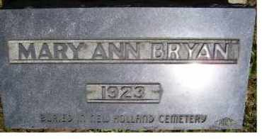 BRYAN, MARY ANN - Highland County, Ohio | MARY ANN BRYAN - Ohio Gravestone Photos