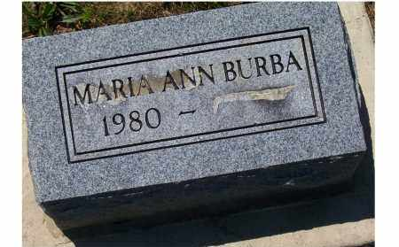 BURBA, MARIA ANN - Highland County, Ohio | MARIA ANN BURBA - Ohio Gravestone Photos