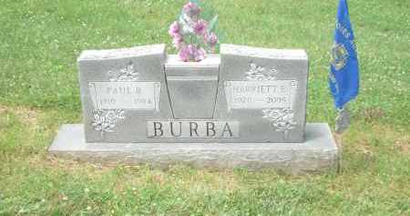 ELIZABETH (SHOEMAKER) BURBA, HARRIETT - Highland County, Ohio | HARRIETT ELIZABETH (SHOEMAKER) BURBA - Ohio Gravestone Photos