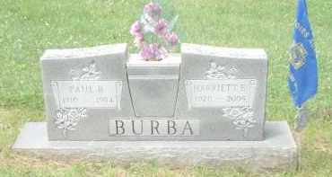 SHOEMAKER (SCHUMAKER) BURBA, HARRIETT - Highland County, Ohio | HARRIETT SHOEMAKER (SCHUMAKER) BURBA - Ohio Gravestone Photos