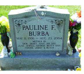 BURBA, PAULINE F. - Highland County, Ohio | PAULINE F. BURBA - Ohio Gravestone Photos