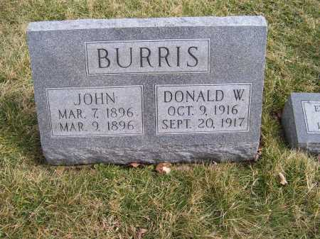 BURRIS, DONALD W. - Highland County, Ohio | DONALD W. BURRIS - Ohio Gravestone Photos