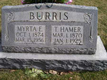 BURRIS, MYRTA E. - Highland County, Ohio | MYRTA E. BURRIS - Ohio Gravestone Photos