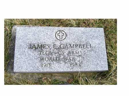 CAMPBELL, JAMES E. - Highland County, Ohio | JAMES E. CAMPBELL - Ohio Gravestone Photos