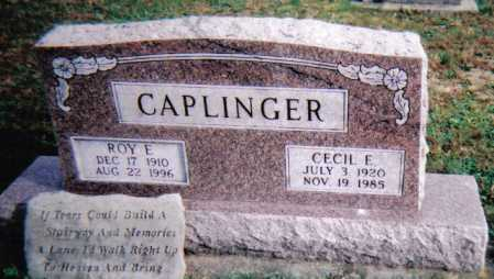 CAPLINGER, ROY E. - Highland County, Ohio | ROY E. CAPLINGER - Ohio Gravestone Photos