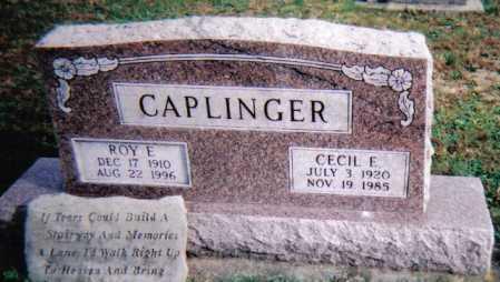 CAPLINGER, ROY E. - Highland County, Ohio | ROY E. CAPLINGER - Ohio Gravestone Photos
