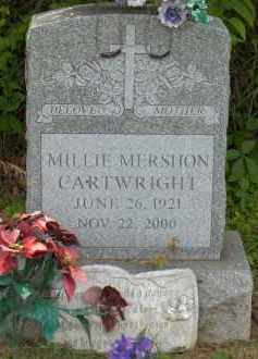 MERSHON CARTWRIGHT, MILLIE - Highland County, Ohio | MILLIE MERSHON CARTWRIGHT - Ohio Gravestone Photos