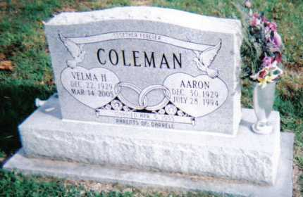 COLEMAN, AARON - Highland County, Ohio | AARON COLEMAN - Ohio Gravestone Photos