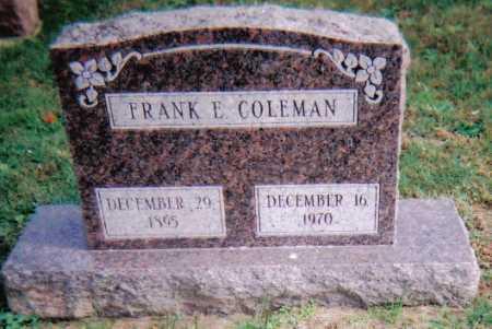 COLEMAN, FRANK E. - Highland County, Ohio | FRANK E. COLEMAN - Ohio Gravestone Photos