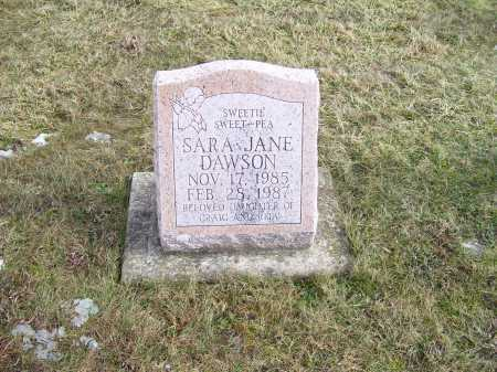 DAWSON, SARA JANE - Highland County, Ohio | SARA JANE DAWSON - Ohio Gravestone Photos
