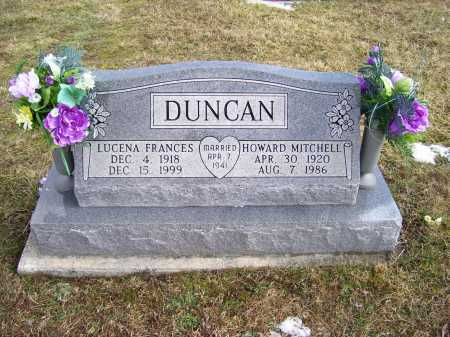 DUNCAN, LUCENA FRANCES - Highland County, Ohio | LUCENA FRANCES DUNCAN - Ohio Gravestone Photos