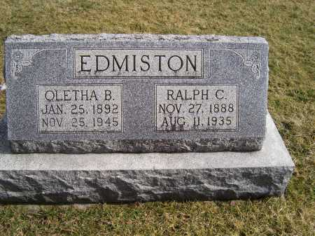 EDMISTON, RALPH C. - Highland County, Ohio | RALPH C. EDMISTON - Ohio Gravestone Photos