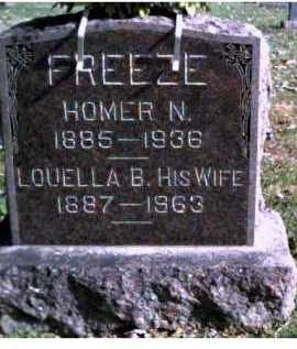 FREEZE, HOMER N. - Highland County, Ohio | HOMER N. FREEZE - Ohio Gravestone Photos