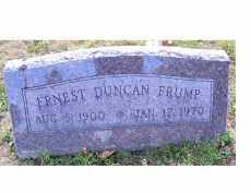 FRUMP, ERNEST DUNCAN - Highland County, Ohio | ERNEST DUNCAN FRUMP - Ohio Gravestone Photos