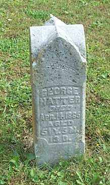 HATTER, GEORGE - Highland County, Ohio | GEORGE HATTER - Ohio Gravestone Photos