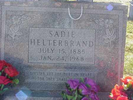 HELTERBRAND, SARAH (SADIE) - Highland County, Ohio | SARAH (SADIE) HELTERBRAND - Ohio Gravestone Photos