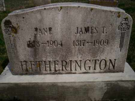 HETHERINGTON, JAMES T. - Highland County, Ohio | JAMES T. HETHERINGTON - Ohio Gravestone Photos