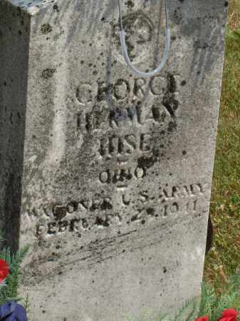 HISE, GEORGE HERMAN - Highland County, Ohio | GEORGE HERMAN HISE - Ohio Gravestone Photos