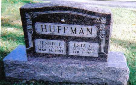 HUFFMAN, JENNIE F. - Highland County, Ohio | JENNIE F. HUFFMAN - Ohio Gravestone Photos