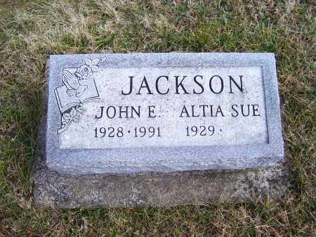 JACKSON, ALTIA SUE - Highland County, Ohio | ALTIA SUE JACKSON - Ohio Gravestone Photos