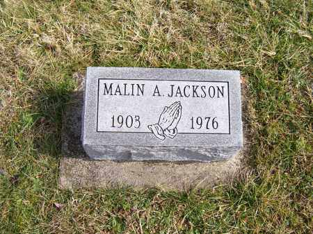 JACKSON, MALIN A. - Highland County, Ohio | MALIN A. JACKSON - Ohio Gravestone Photos