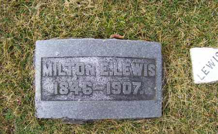 LEWIS, MILTON E. - Highland County, Ohio | MILTON E. LEWIS - Ohio Gravestone Photos