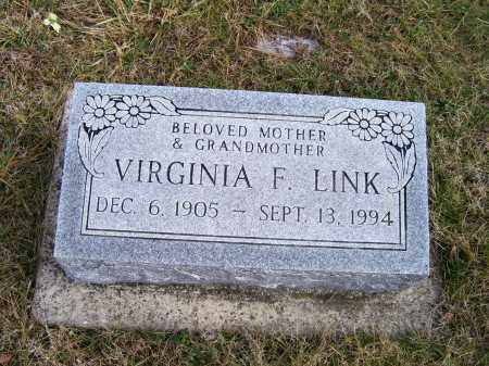 LINK, VIRGINIA F. - Highland County, Ohio | VIRGINIA F. LINK - Ohio Gravestone Photos