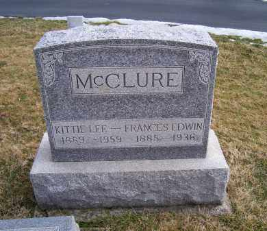 MCCLURE, FRANCES EDWIN - Highland County, Ohio | FRANCES EDWIN MCCLURE - Ohio Gravestone Photos
