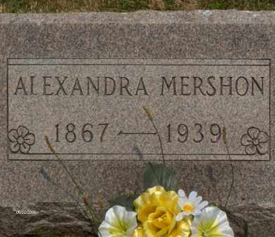 MERSHON, ALEXANDRA - Highland County, Ohio | ALEXANDRA MERSHON - Ohio Gravestone Photos