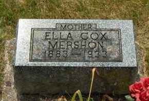 MERSHON, ELLA COX - Highland County, Ohio | ELLA COX MERSHON - Ohio Gravestone Photos