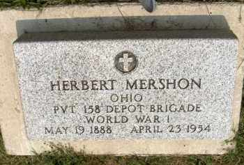MERSHON, HERBERT - Highland County, Ohio | HERBERT MERSHON - Ohio Gravestone Photos