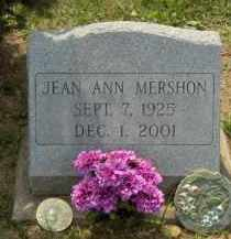 MERSHON, JEAN ANN - Highland County, Ohio | JEAN ANN MERSHON - Ohio Gravestone Photos