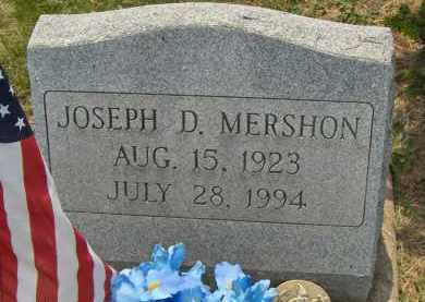 MERSHON, JOSEPH D. - Highland County, Ohio | JOSEPH D. MERSHON - Ohio Gravestone Photos
