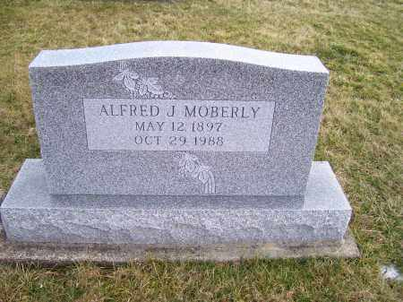 MOBERLY, ALFRED J. - Highland County, Ohio | ALFRED J. MOBERLY - Ohio Gravestone Photos