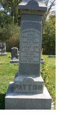 PATTON, SARAH JANE - Highland County, Ohio | SARAH JANE PATTON - Ohio Gravestone Photos