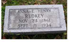 REDKEY, ANNA E. - Highland County, Ohio | ANNA E. REDKEY - Ohio Gravestone Photos