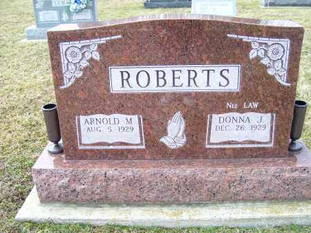 LAW ROBERTS, DONNA J. - Highland County, Ohio | DONNA J. LAW ROBERTS - Ohio Gravestone Photos
