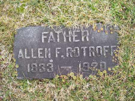 ROTHOFF, ALLEN F. - Highland County, Ohio | ALLEN F. ROTHOFF - Ohio Gravestone Photos