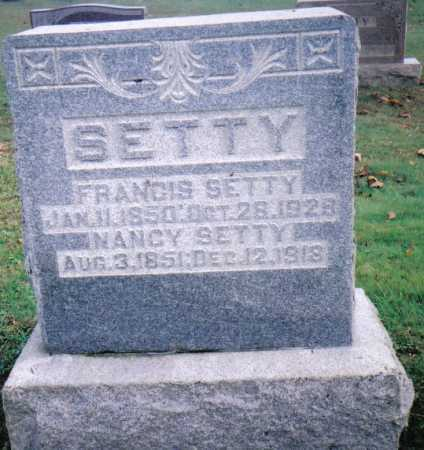 SETTY, FRANCIS - Highland County, Ohio | FRANCIS SETTY - Ohio Gravestone Photos