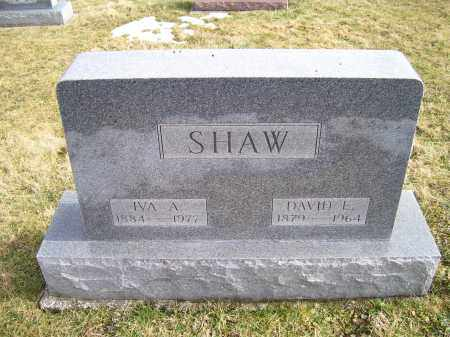 SHAW, DAVID E. - Highland County, Ohio | DAVID E. SHAW - Ohio Gravestone Photos