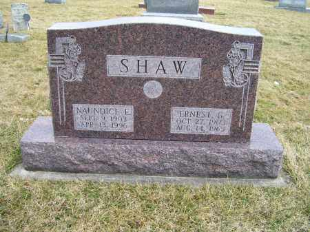 SHAW, NAUNDICE E. - Highland County, Ohio | NAUNDICE E. SHAW - Ohio Gravestone Photos