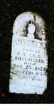 SHOEMAKER, ULYSSUS - Highland County, Ohio | ULYSSUS SHOEMAKER - Ohio Gravestone Photos
