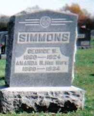 SIMMONS, GEORGE W. - Highland County, Ohio | GEORGE W. SIMMONS - Ohio Gravestone Photos