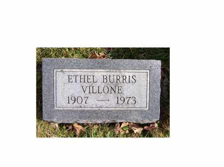 BURRIS VILLONE, ETHEL - Highland County, Ohio | ETHEL BURRIS VILLONE - Ohio Gravestone Photos