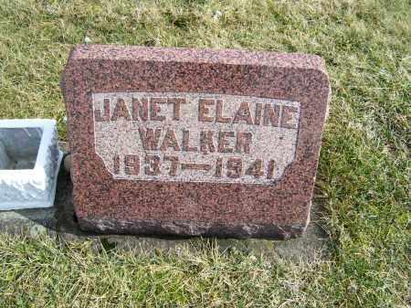 WALKER, JANET ELAINE - Highland County, Ohio | JANET ELAINE WALKER - Ohio Gravestone Photos