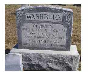 WASHBURN, GEORGE W. - Highland County, Ohio | GEORGE W. WASHBURN - Ohio Gravestone Photos